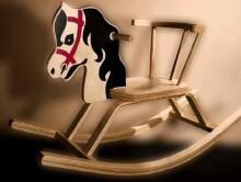 TROJA LF Ojārs Детская классическая деревянная лошадка качалка Ояр