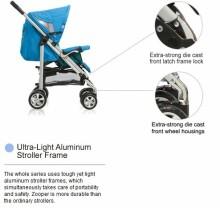 Drizumā! Zooper Waltz SL760A Cashmere Grey Mūsdienu esktra komfortabli pastaigu/sporta rati (0-3 g.)
