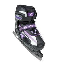 Spokey Felo Replacable Ice/Roller Skates 832218 Sieviešu melnas multifunkcionālās ledus slidas/skrituļslidas