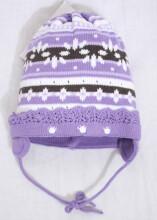 LENNE'14 - Dalia 14242-164 Knitted cap Mazuļu adīta kovilnas cepure sasienamā (izm.48-52)