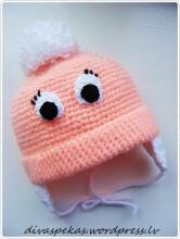 Divas Pekas Handmade Tamborēta cepurīte ar