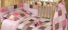 Baby Matex Patchwork Pink 16 Gultas veļas komplekts 3 -dalīgs