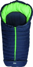Fillikid Art.8460-65 Kiew dark blue/green Footmuff Dūnu ziemas guļammaiss ratiem ar atpogājamo muguru daļu 100 x 50 cm 72182