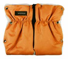 Womar'16 Orange divdaļīgie ratu cimdi ar aitas vilnu 72301
