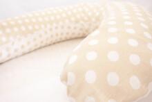 La Bebe™ Mimi Nursing Natural Linen Pillow Art.72699 Dots Pakaviņš spilventiņš 19*46cm ar 100% dabīgu līna