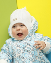 Lenne'15 Knitted Hat Baby Art.15240-001 Mazuļu siltā kokvilnas cepure [izm.48cm]