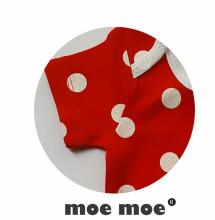 MoeMoe Art.7044 Zīdaiņu kokvilnas bodijs ar īsajām piedurknēm  [62-86]