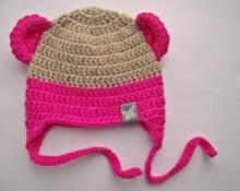 Divas Pekas Handmade Tamborēta cepurīte Siltā