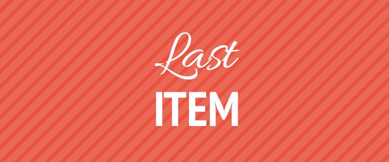 Last item